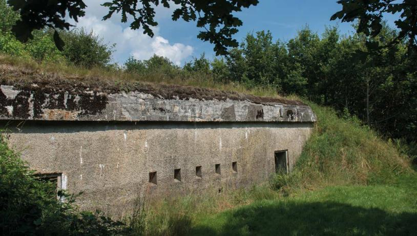 German Northern Defence Line 1916 - 1918 - intact battery at Andholm